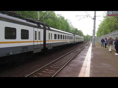 Электропоезд ЭП2Д-0012 ЦППК платформа Переделкино 8.05.2019