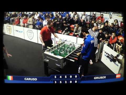 World Cup Semi Final Men Singles - Massimo Caruso (ITA) vs Andreas Gruber (AUT)