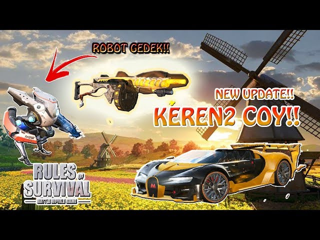NEW UPDATE!!! ROBOT & MOBIL KEREN !!! - Rules of Survival PC Indonesia
