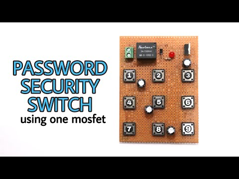 Password Security Switch for electronics devices using only