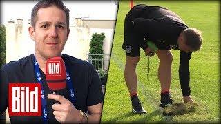 U21-EM in Polen - DFB-Trainingsrasen in Krakau ist in ganz schlechtem Zustand