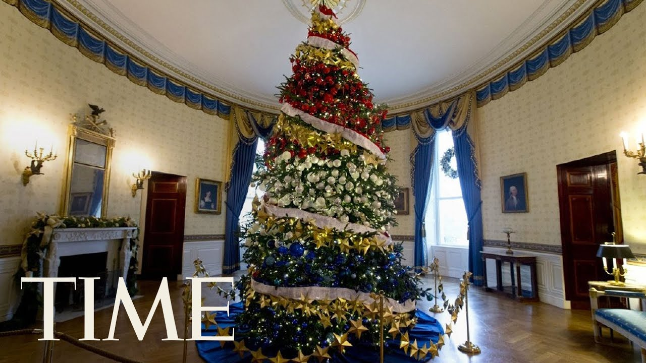 First Lady Melania Trump Receives The 2017 White House Christmas Tree Time