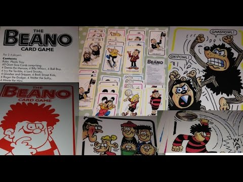 Beano Card Game By Waddingtons 1989 Rules Contents Instructions