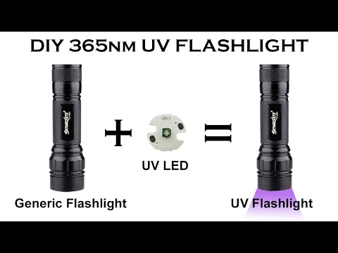 How to change the LED in a flashlight || DIY Blacklight Ultraviolet UV 365nm Torch - Led Swap [mod]