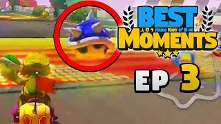 Download BACKWARDS BLUE SHELL?? – Mario Kart BEST Moments Ep. 3 Mp3 and Videos