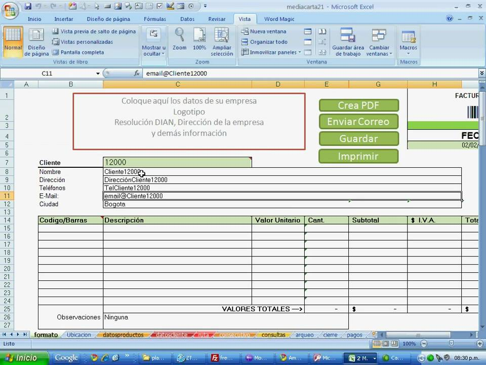how to make an interactive excel 2010 web page