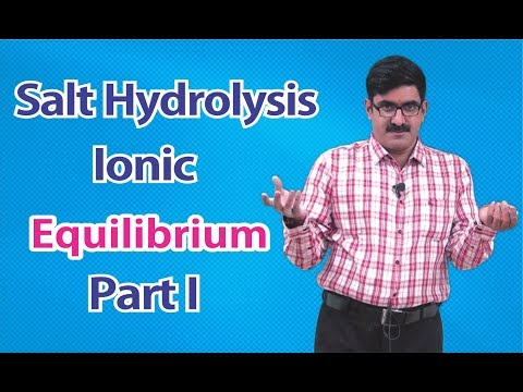 Salt Hydrolysis-Ionic Equilibrium Part-1 for XI | XII | JEE-Main | JEE-Advance