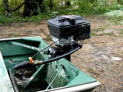 lawn mower engine conversion to homemade outboard motor