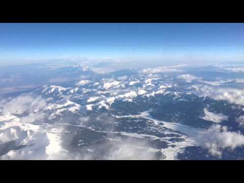 Flying Over The Rocky Mountains at 33,000 Feet (HD)