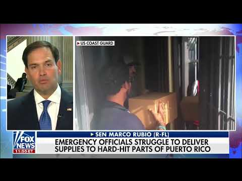 Rubio Discusses Humanitarian Crisis in Puerto Rico, Child Tax Credit on Fox News