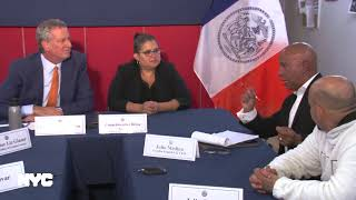 Mayor de Blasio Holds Criminal Justice-Related Roundtable
