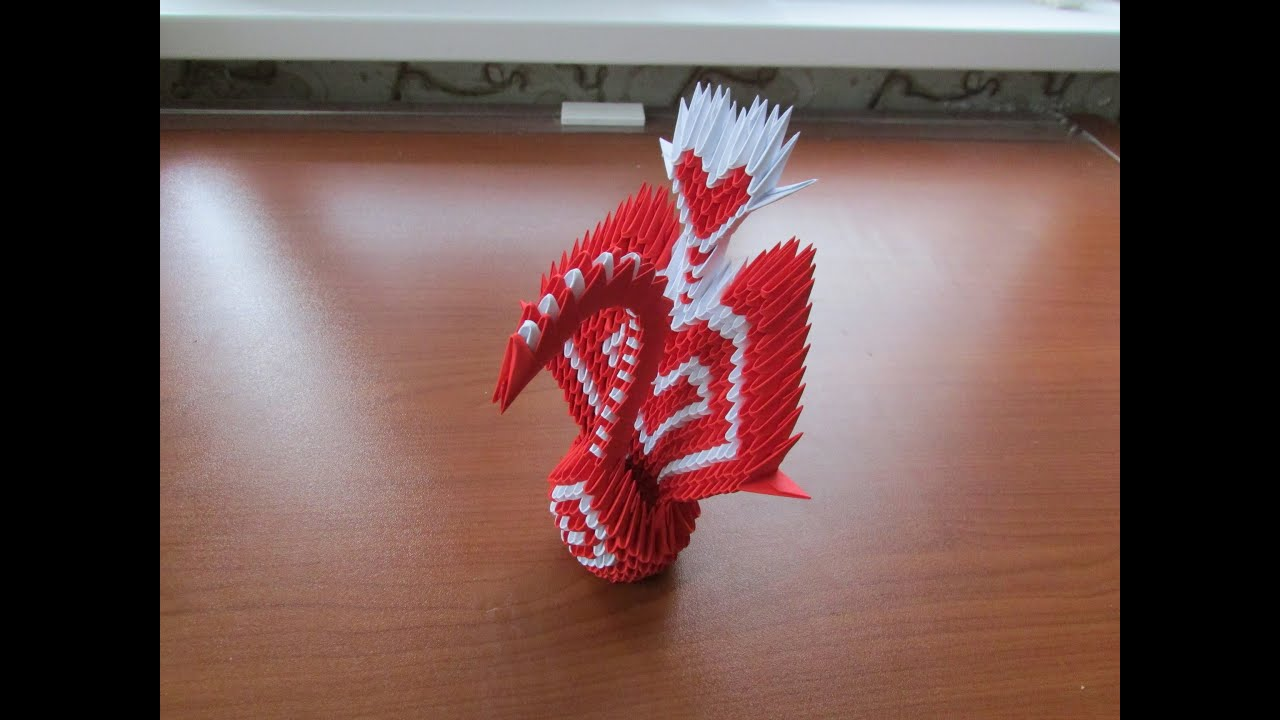 3D Origami Heart Peacock Tutorial - YouTube - photo#25