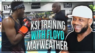 SPARRING AND TRAINING WITH FLOYD MAYWEATHER REACTION