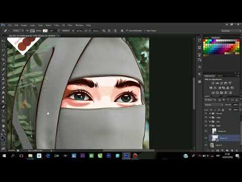 Vektor X Vexel Tutorial (Photoshop) #4 Hijab