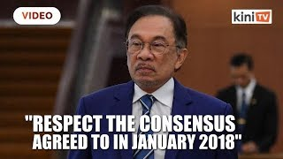Stop arguing in public over transition of power, says Anwar