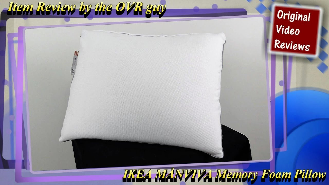 item review ikea mnviva memory foam pillow