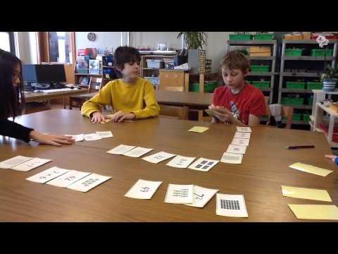 Math Cards Activity -Near North Montessori