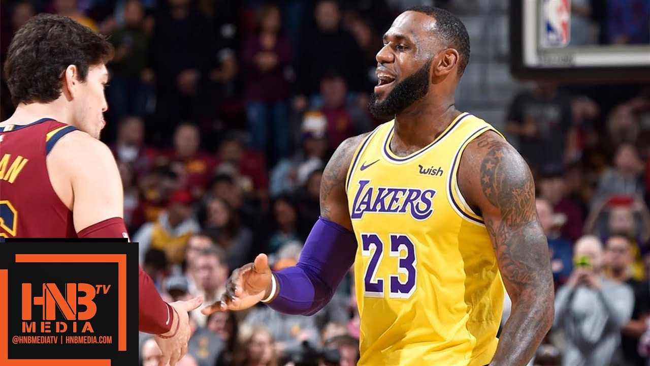 Lakers Vs Cleveland 2018 >> Los Angeles Lakers Vs Cleveland Cavaliers 1st Qtr Highlights
