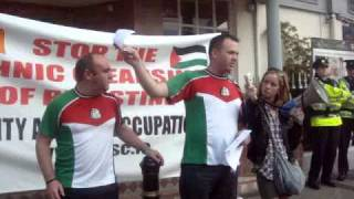 Love Football Hate Apartheid IPSC Protest At Ireland V Israel Match