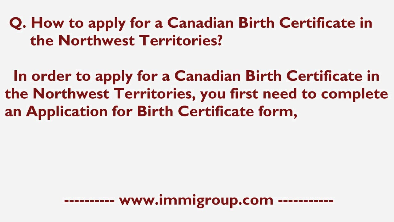 How to apply for a canadian birth certificate in the northwest how to apply for a canadian birth certificate in the northwest territories aiddatafo Image collections