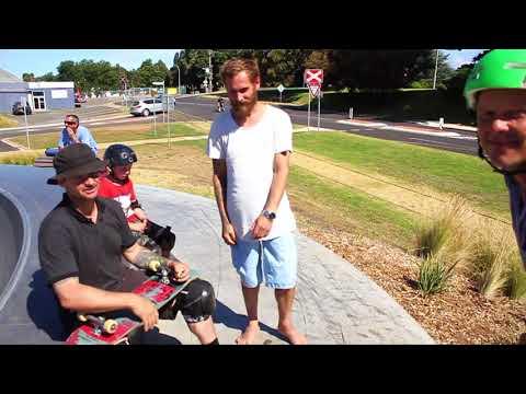 Tas Pappas and his son Bill Pappas @ the Portland Skate Park.