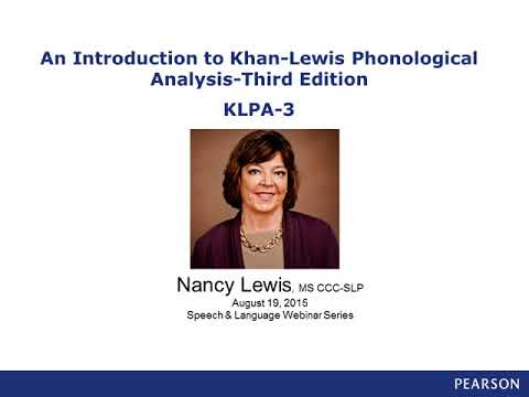 Overview of the Khan-Lewis Phonological Analysis (KLPA-3