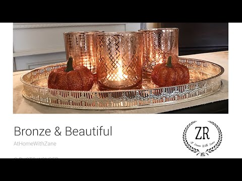 GORGEOUS!! Copper/Bronze Metallic Trio Votive/Tea Light Candle Holder Set WITH Flameless Tea Lights