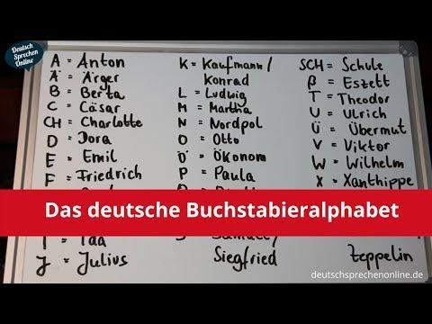 Deutsch: Aussprache Buchstabieralphabet (live)