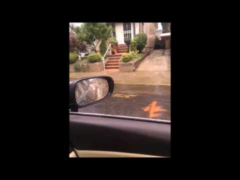 Streets In Flatbush Flooded After Heavy Thunderstorms Tear Through