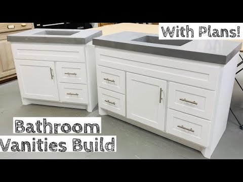 Building TWO Vanities for half the price of buying JUST ONE
