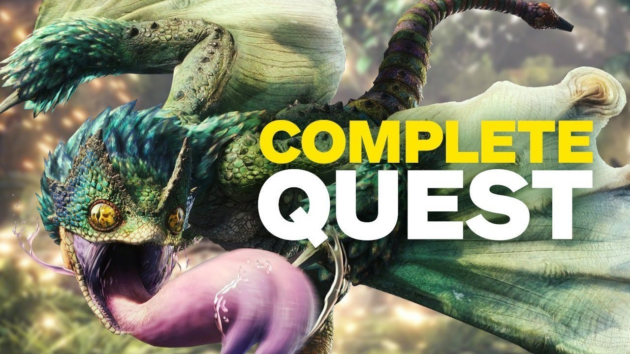 17 Minutes of Monster Hunter World Gameplay in 4K (Complete Quest)