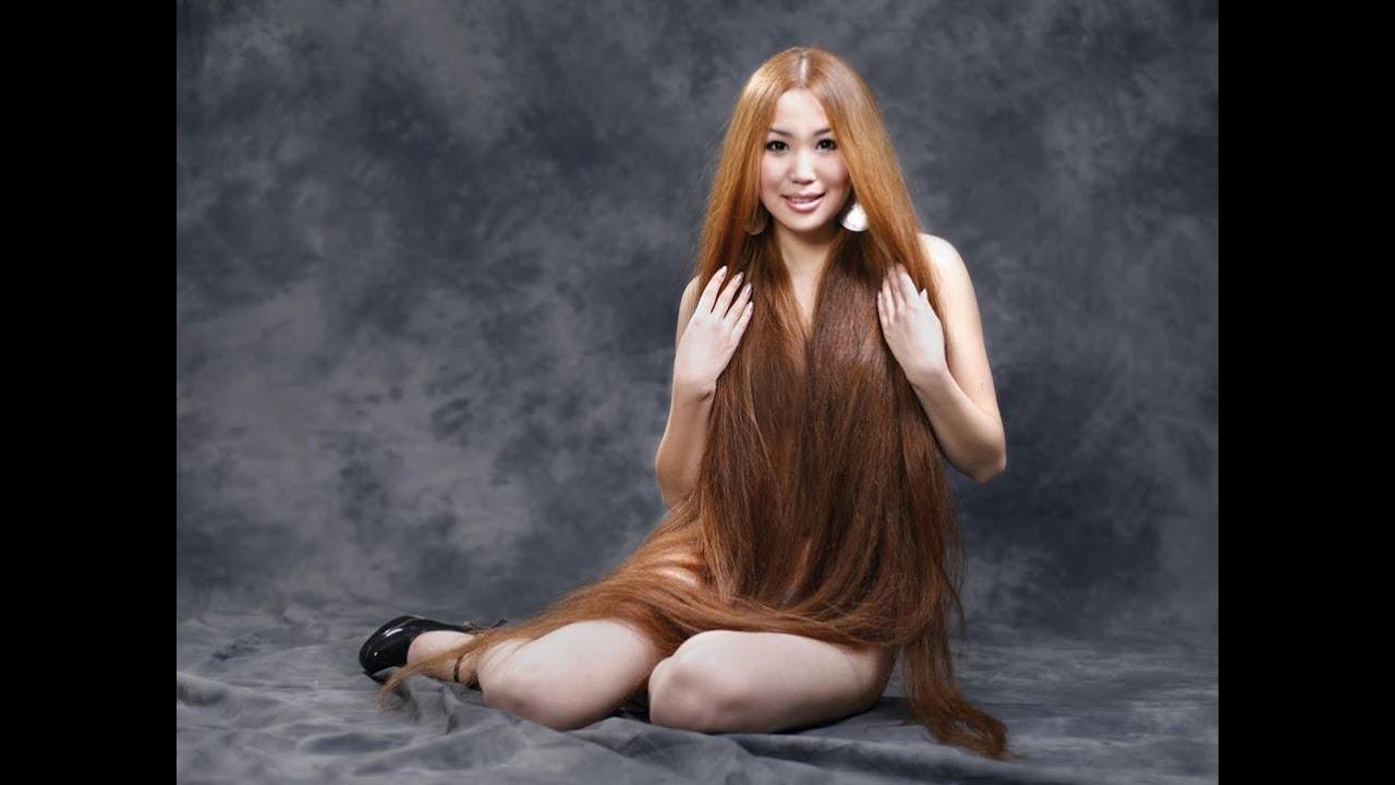 Long hair rapunzel amazing! - YouTube