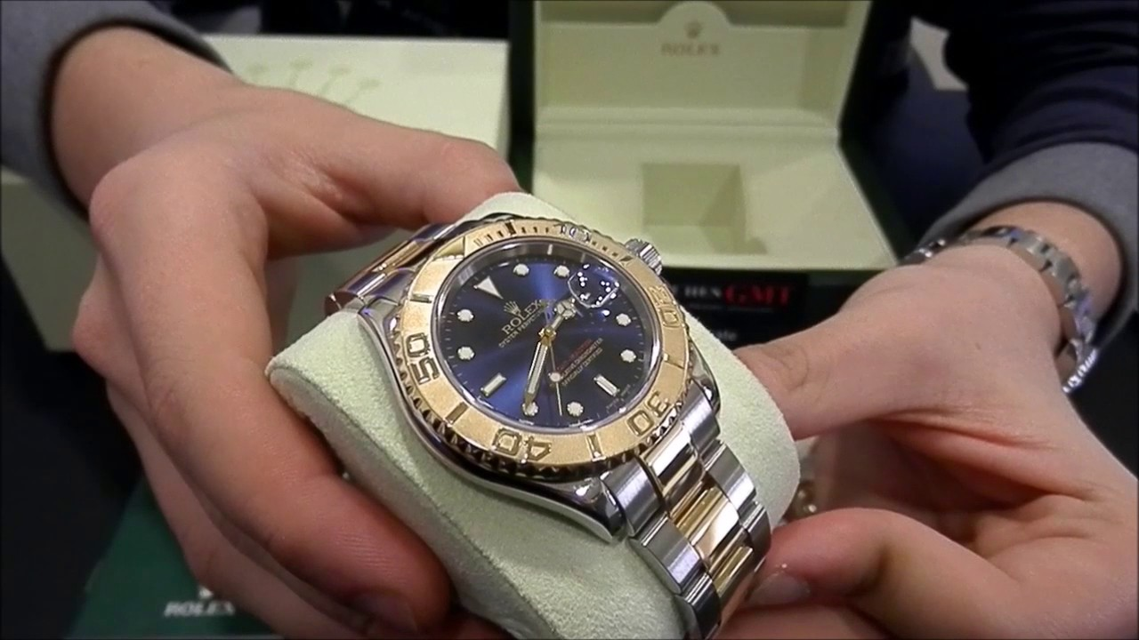 Rolex Yacht Master 16623 Steel \u0026 Gold Blue Dial Serie Z