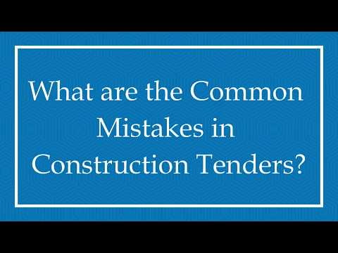 What are the Common Mistakes in Construction Tenders?