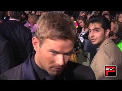 Kellan Lutz with girlfriend Sharni Vinson at the Twilight: Breaking Dawn Pt. 2 premiere