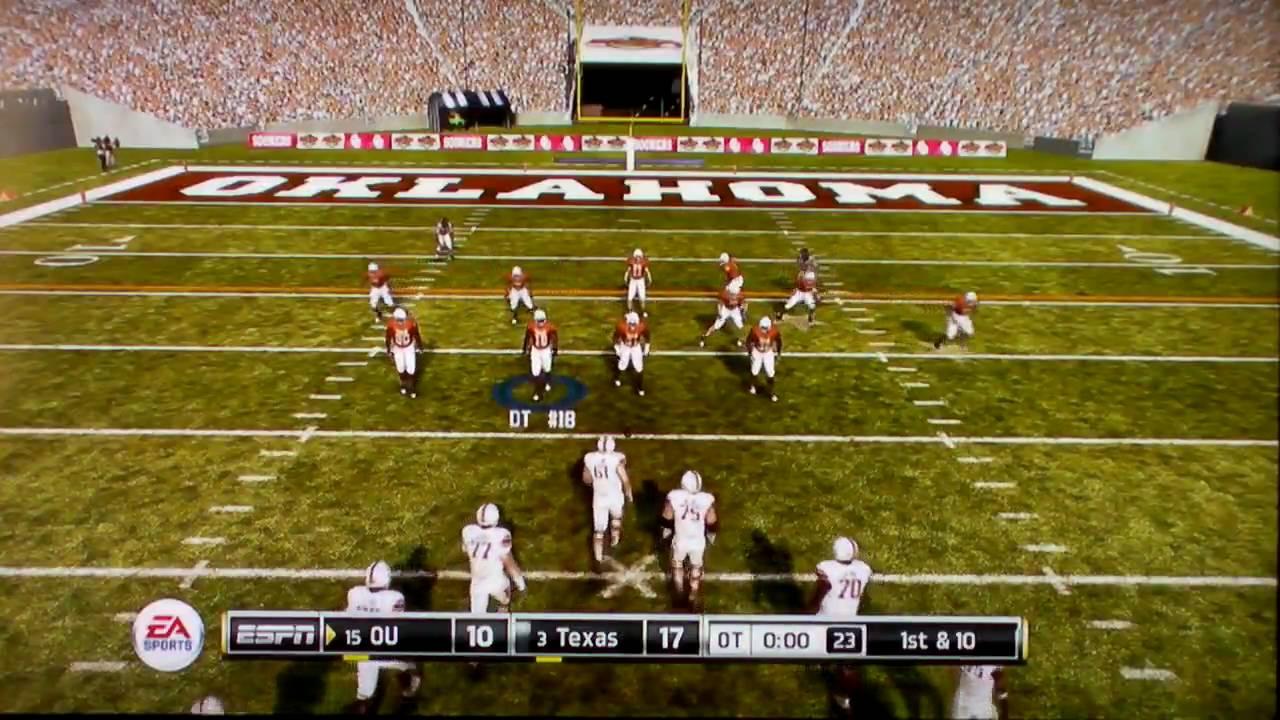 NCAA Football 11 Demo Gameplay Oklahoma vs Texas pt4 - YouTube