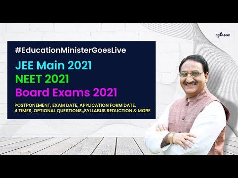 #EducationMinisterGoesLive Ramesh Pokhriyal Nishank on Board Exams 2021, JEE Main 2021, NEET 2021