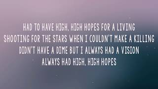 Panic At The Disco High Hopes (Lyrics/Lyrics Video) (With Audio) Video