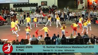 Berliner Streetdance Meisterschaft 2018 MAGIC STEPS 3. Platz Teens Mittelstufe