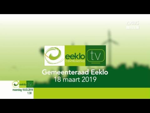 Live stream Gemeenteraad Stad Eeklo maandag 18 maart 2019