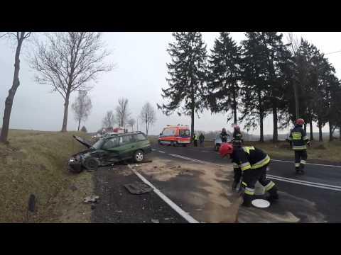 Wypadek koło Sokolnika na DK nr 11