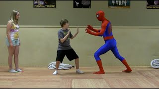 Self-Defense for Kids with SPIDER-MAN | episode 1 (Stance & Voice)