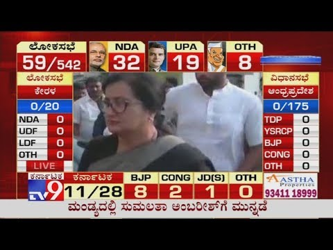 Lok Sabha Elections 2019 LIVE Update: Sumalatha Leads in Postal Votes at Early Trends in Mandya