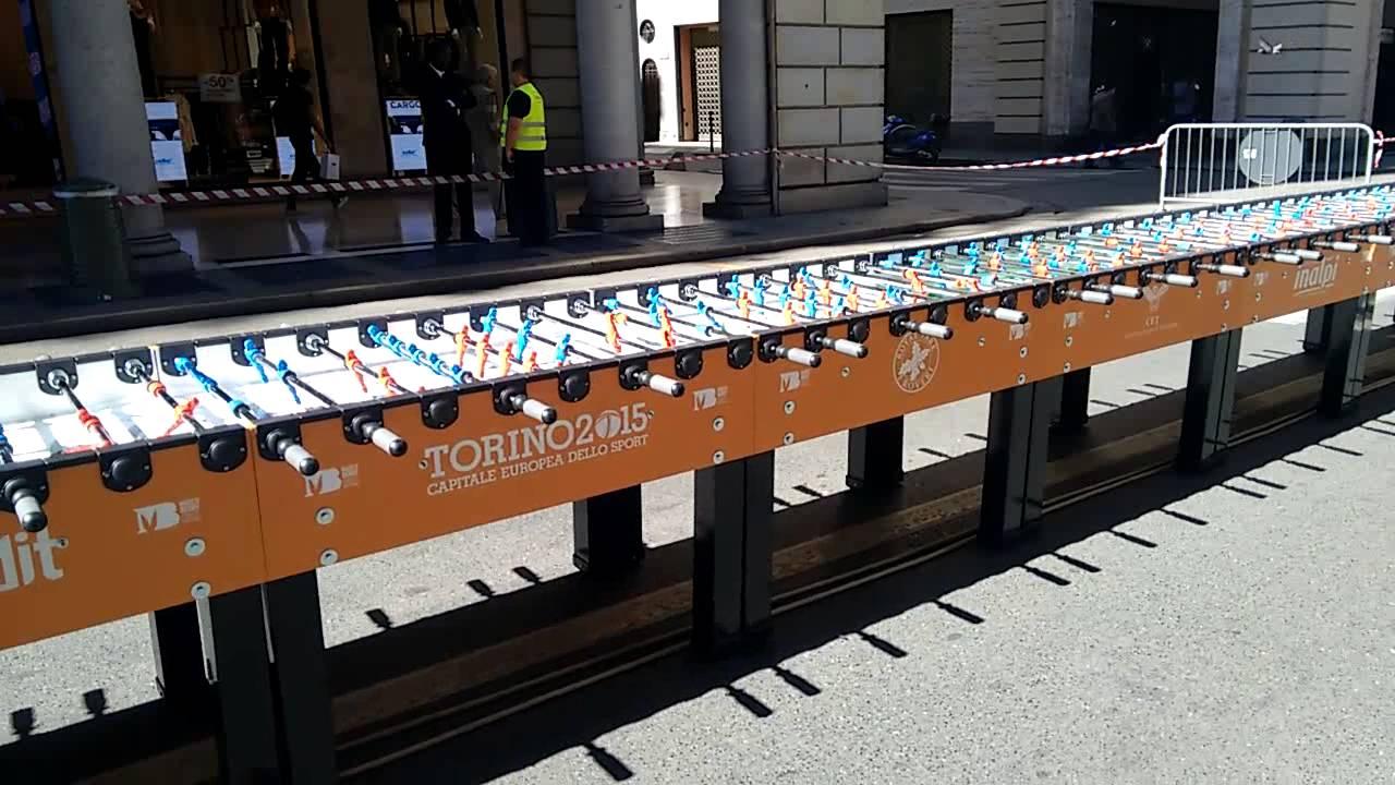 One Very Long Foosball Table