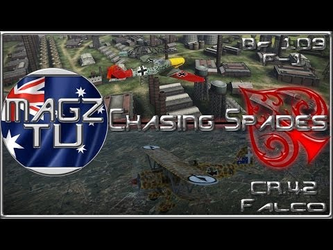 "War Thunder - ""Chasing Spades"" CR.42 Falco & Bf 109 F-1 - Realistic Battle"