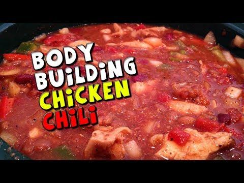 Bodybuilding Chicken Chili Recipe! (Low Fat + High Protein!)