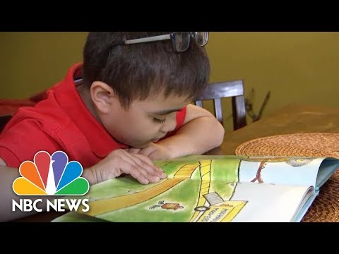Low Vision Children Discover The World Of Books Through New Technology | NBC News