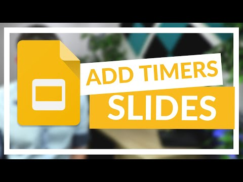 How to add current time and Timers to a Google Slides
