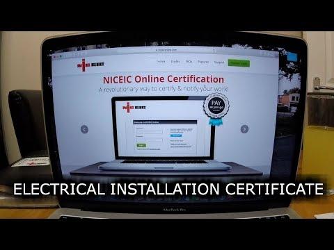 SurelecTV- NICEIC ONLINE CERTIFICATION- Electrical installation certificate