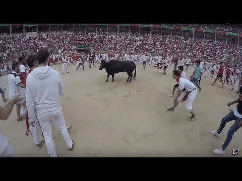 Running Of The Bulls 2017: GoPro POV In 4K